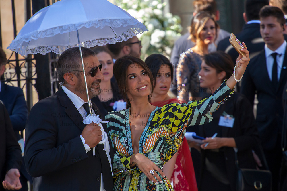 Circa 150 gli invitati al matrimonio tra Andrea Belotti e Giorgia Duro.
