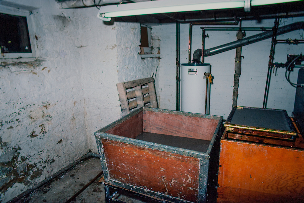 Interior of the papermaking mill at the University of Wisconsin-Madison. 400 block of Lake Street. The building was demolisted in approximately 1990