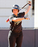 FIU Softball Vs. Depaul whom was ranked #25 in the nation.  The Golden Panthers knocked of the nationally ranked team 3-2 before a nice crowd at FIU Softball complex. Mariah Dawson pitched complete game gem, and Brie Rojas delivered the game winning hit!