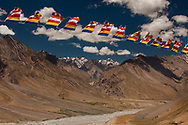 Tibetan Prayer Flags & Himalayan Mountains, India