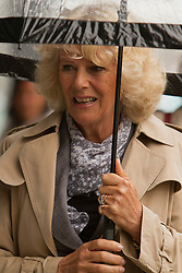 © Licensed to London News Pictures. 02/07/2012. Camborne, UK. The Duchess of Cornwall at Heartlands. The Duke and Duchess of Cornwall are on a three day tour of Cornwall and the Isles of Scilly. Photo credit : Ashley Hugo/LNP