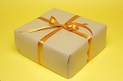 Gift with a brown bow