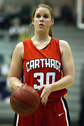 29 January 2011: Cailee Corcoran during an NCAA Womens basketball game between the Carthage Reds and the Illinois Wesleyan Titans at Shirk Center in Bloomington Illinois.
