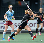 Amsterdam's Kitty van Male scores thier second goal during the semi final of the EHCC 2017 at Den Bosch HC, The Netherlands, 3rd June 2017