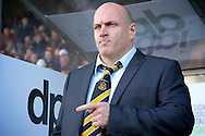 Southport manager Gary Brabin pictured ahead of the The FA Cup match at Haig Avenue, Southport<br /> Picture by Ian Wadkins/Focus Images Ltd +44 7877 568959<br /> 07/12/2014