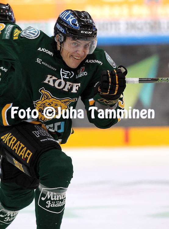 18.12.2015, Hakamets&auml;n halli, Tampere.<br /> J&auml;&auml;kiekon SM-liiga 2015-16. Ilves - HIFK.<br /> Jiri Veistola - Ilves