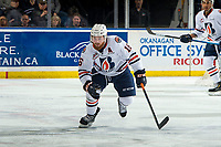 KELOWNA, CANADA - MARCH 9:  Zane Franklin #16 of the Kamloops Blazers skates against the Kelowna Rockets on March 9, 2019 at Prospera Place in Kelowna, British Columbia, Canada.  (Photo by Marissa Baecker/Getty Images)