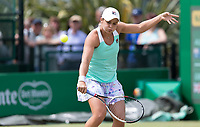 NOTTINGHAM, ENGLAND - JUNE 15: Ashleigh Barty of Australia in action against Katie Boulter of Great Britain during Day Seven of the Nature Valley Open at Nottingham Tennis Centre on June 15, 2018 in Nottingham, United Kingdom. (Photo by James Wilson/MB Media/Getty Images)