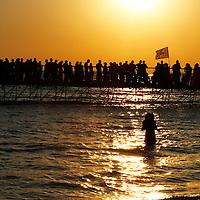 Sunset celebrations at Kazantip in the Ukraine.
