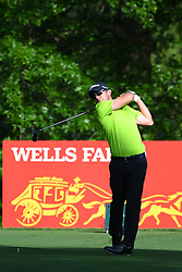 May 2, 2019 - Charlotte, NC, U.S. - CHARLOTTE, NC - MAY 02:  Ryan Blaum plays his shot from the 16th tee in round one of the Wells Fargo Championship on March 02, 2019 at Quail Hollow Club in Charlotte,NC. (Photo by Dannie Walls/Icon Sportswire) (Credit Image: © Dannie Walls/Icon SMI via ZUMA Press)