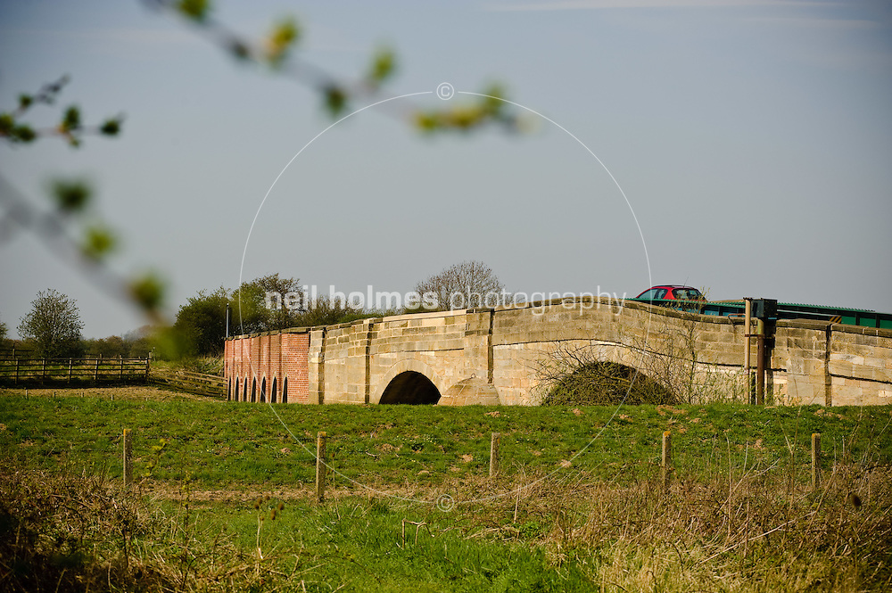 Bubwith village, East Yorkshire, the former toll bridge over the river Derwent