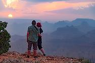 Hazey Sunset as viewed from Desert View