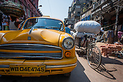 Yellow cab in Kolkata (India).