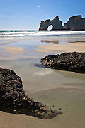 Archway Islands at Wharariki Beach, New Zealand