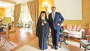 Koning ontvangt de Oecumenische Patriarch van Constantinopel