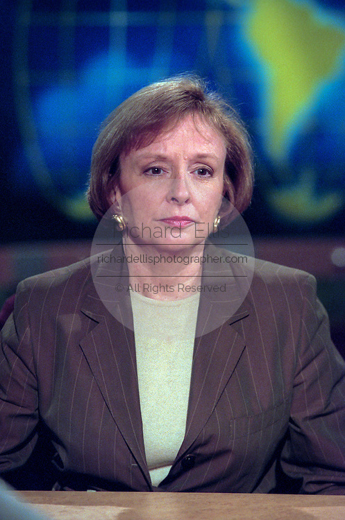 Journalist Elizabeth Drew discusses the ongoing Lewinsky scandal September 6, 1998 during NBC's Meet the Press in Washington, DC.