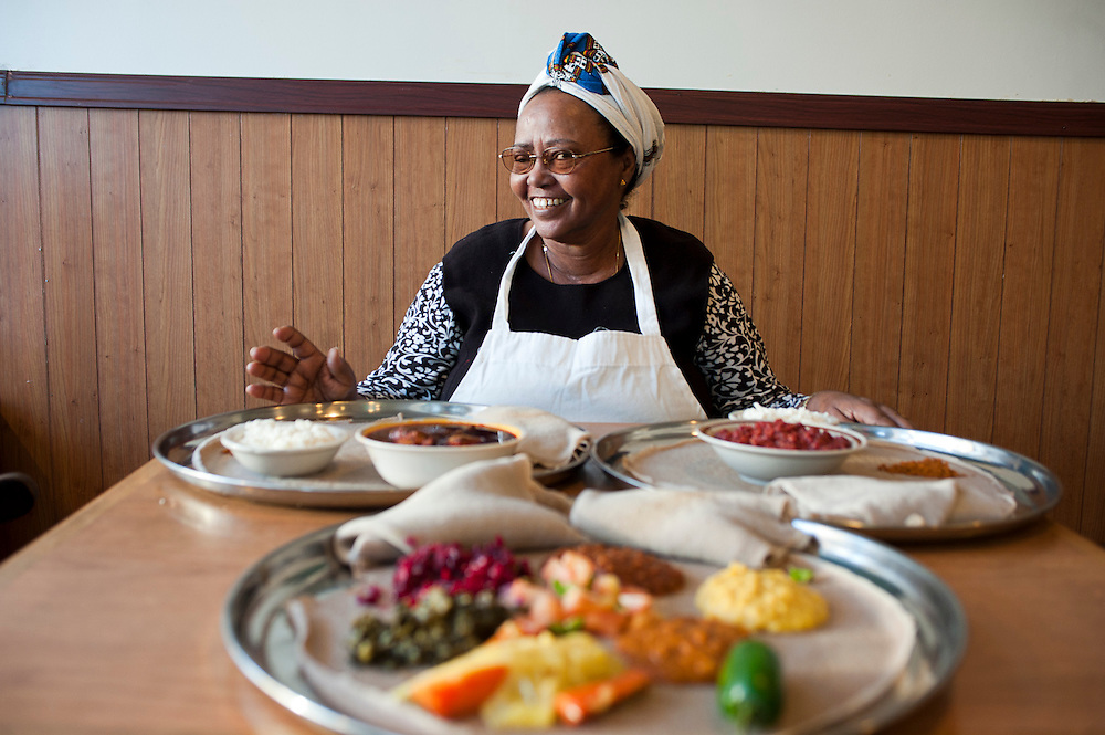 Zenebech Injera, a classic Ethiopian restaurant near U St and Florida Avenue NW features traditional fare like beef tips, chicken stew, duro, kitfo, vegetarian platters, all prepared by it's Ethiopian chef and owner Zenebezh Dessu.