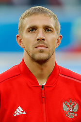 June 19, 2018 - Saint Petersburg, Russia - Yury Gazinsky of Russia national team during the 2018 FIFA World Cup Russia group A match between Russia and Egypt on June 19, 2018 at Saint Petersburg Stadium in Saint Petersburg, Russia. (Credit Image: © Mike Kireev/NurPhoto via ZUMA Press)