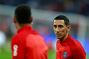 Paris Saint Germain's Argentinian forward Angel Di Maria talks to Neymar Jr during the French championship L1 football match between Paris Saint-Germain (PSG) and Saint-Etienne (ASSE), on August 25, 2017 at the Parc des Princes in Paris, France - Photo Benjamin Cremel / ProSportsImages / DPPI