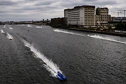 Alex Carella of Victory Team during the F1H2O UIM World Championship 2018 Grand Prix of London around Royal Victoria Dock
