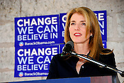 Caroline Kennedy speaks in support of Democratic candidate for President, Barack Obama in Austin Texas, February 25 2008.