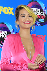 August 13, 2017 - Los Angeles, CA, USA - LOS ANGELES - AUG 13:  Rita Ora at the Teen Choice Awards 2017 at the Galen Center on August 13, 2017 in Los Angeles, CA (Credit Image: © Kay Blake via ZUMA Wire)