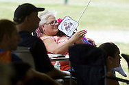 "Goshen, New York - People watch a performance of""The Merry Wives of Windsor' outdoors at Salesian Park in Goshen on July 20, 2013. The Shakespeare in Salesian Park play was presented by Cornerstone Arts Alliance  and sponsored by the Goshen Public Library & Historical Society. ©Tom Bushey / The Image Works"