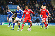 Walsall FC defender Rico Henry on the ball during the The FA Cup match between Chesterfield and Walsall at the Proact stadium, Chesterfield, England on 5 December 2015. Photo by Aaron Lupton.