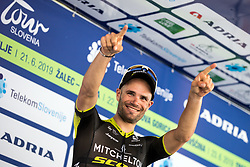 Luka Mezgec (SLO) of Mitchelton - Scott celebrates at trophy ceremony after 2nd Stage of 26th Tour of Slovenia 2019 cycling race between Maribor and Celje (146,3 km), on June 20, 2019 in Slovenia.. Photo by Matic Klansek Velej / Sportida
