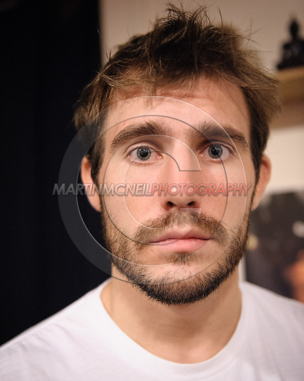 Ryan Couture, son of Randy Couture, poses for a portrait following a training session for his father ahead of UFC 105 at Straight Blast Gym in Manchester, England on November 11, 2009.