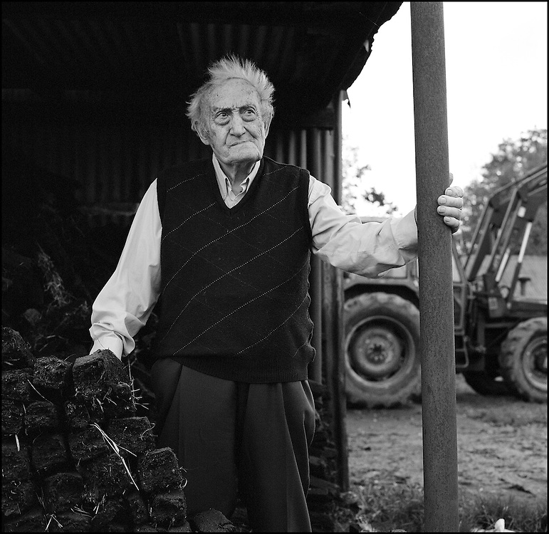 "Paddy Concannon (93) outside his home in Knockmurray, Co. Roscommon. .""They'll tell you you cannot break the law but all law is based on justice and that is not a just law. I'd be prepared to go in and I won't have far to go. Castlerea is just up the road. Prison life now isn't as bas as it was 100 years ago"""