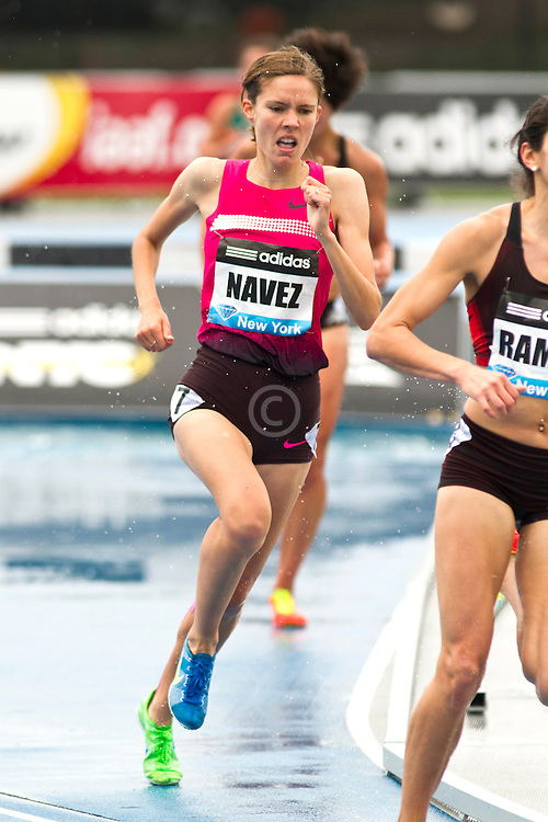 adidas Grand Prix Diamond League professional track & field meet: womens 3000 meter steeplechase, Claire NAVEZ, France