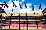 general shot of stadium before  the FA Community Shield match between Arsenal and Chelsea at Wembley Stadium, London, England on 6 August 2017. Photo by Sebastian Frej.