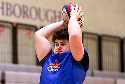Alfie Barbeary of England Under 20s in action during training ahead of the Under 20s Six Nations - Mandatory by-line: Robbie Stephenson/JMP - 14/01/2020 - RUGBY - Loughborough University - Loughborough, England - England U20s Training