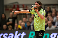 HÅNDBOLD: Jesper Dahl (Nordsjælland) under kampen i 888-Ligaen mellem Nordsjælland Håndbold og Skjern Håndbold den 7. marts 2018 i Helsinge Hallen. Foto: Claus Birch.