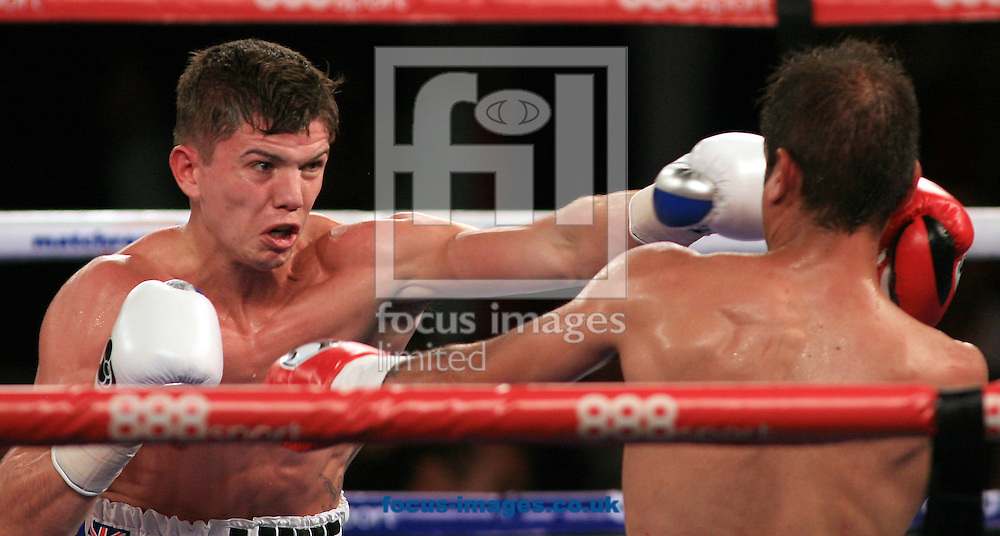 Luke Campbell (white shorts) v Daniel Brizuela (black shorts) during their Lightweight Contest at Hull Ice Arena, Hull<br /> Picture by Richard Gould/Focus Images Ltd +44 7855 403186<br /> 25/10/2014