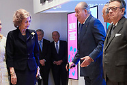 120418 King Juan Carlos and Queen Sofia attends Opening of the exhibition 'Democracia 1978-2018'