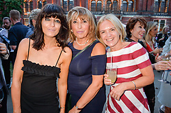 Left to right, Claudia Winkleman, Eve Pollard and Mariella Frostrup at the V&A Summer Party 2017 held at the Victoria & Albert Museum, London England. 21 June 2017.