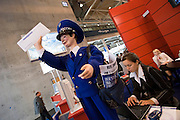 Hannover Messe 2005, the biggest annual industrial fair in the World..Russian Mail.