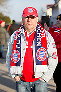 Bayern Munchen fan during the ceremony at Manchesterplatz, Munich, Germany. Picture by Phil Duncan.