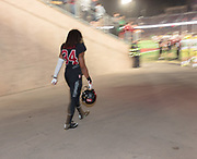 PALO ALTO, CA - OCTOBER 14:  Peter Kalambayi #34 of the Stanford Cardinal enters the stadium before the second half of an NCAA Pac-12 football game against the University of Oregon Ducks on October 14, 2017 at Stanford Stadium in Palo Alto, California.  (Photo by David Madison/Getty Images)