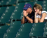 MORNING JOURNAL/DAVID RICHARDDavid and Melinda Guyett sit in the stands at Jacobs Field after the Indians were defeated by the Chicago White Sox 4-3, October 1, 2005.