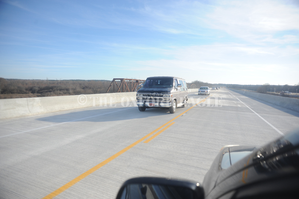 Drivers cross the new bridge over the Tallahatchie River on Highway 7 north of Abbeville, Miss. on Friday, February 6, 2015. The bridge opened Friday.