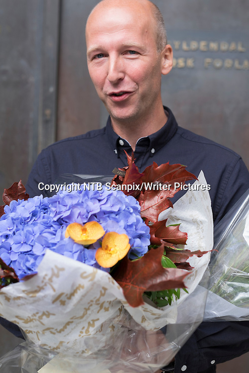 Oslo  20140827.<br /> Alfred Fidjest&macr;l ble tildelt Sultprisen hos Gyldendal forlag onsdag formiddag.<br /> Foto: Torstein B&macr;e / NTB scanpix<br /> <br /> NTB Scanpix/Writer Pictures<br /> <br /> WORLD RIGHTS, DIRECT SALES ONLY, NO AGENCY