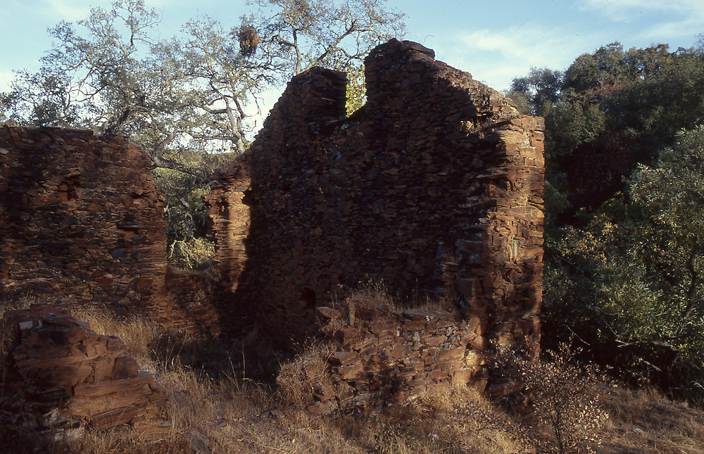 The ruins of Lost City, a town established in the Sierra Nevada foothills in the late 19th century