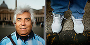 Carlo. 61 years old. Buenos Aires, Argentina. <br /> Rome 16 December 2015. Christian Mantuano / OneShot