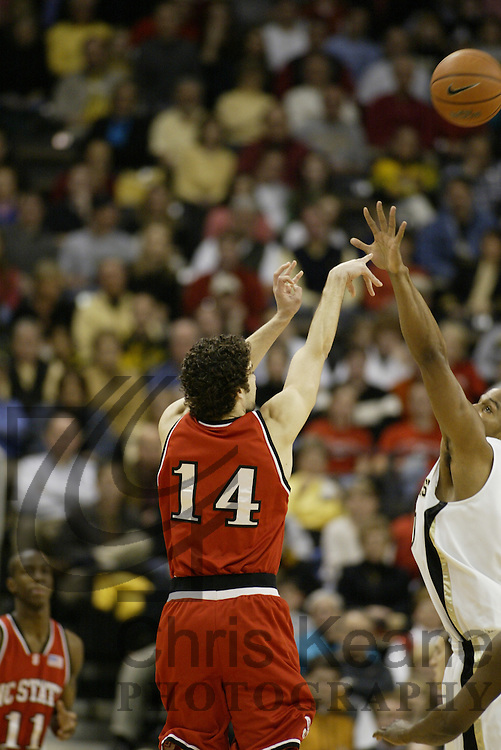 Wake Forest's XXX NC State's XXX during the first half of a college basketball game Saturday, March 4, 2006 at Lawrence Joel Veterans Memorial Coliseum in Winston-Salem, N.C. (AP Photo/Chris Keane)