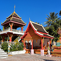 Colorful Lao Buddhism Temple in Ban Xang Hai in Laos <br />