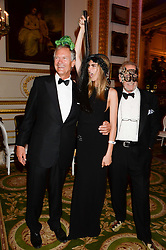 Left to right, CHARLES DELEVINGNE, his daughter CARA DELEVINGNE and MARK SHAND at The Animal Ball in aid of The Elephant Family held at Lancaster House, London on 9th July 2013.