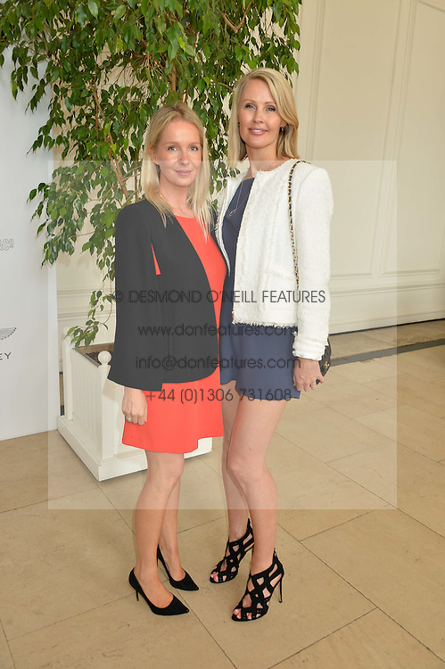CHARLOTTE COCHRANE and MEREDITH MONTGOMERY at the Goffs London Sale held at The Orangery, Kensington Palace, London on 12th June 2016.